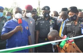 Governor Ikpeazu at the Abia State Security Watch Establishment