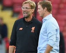 Managers of RB Leipzig and Liverpool in the Uefa champion league