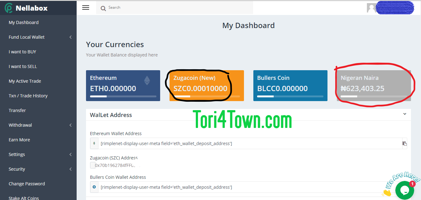 How to withdraw zugacoin