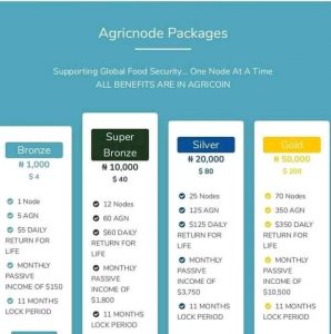 Agricnode and packages